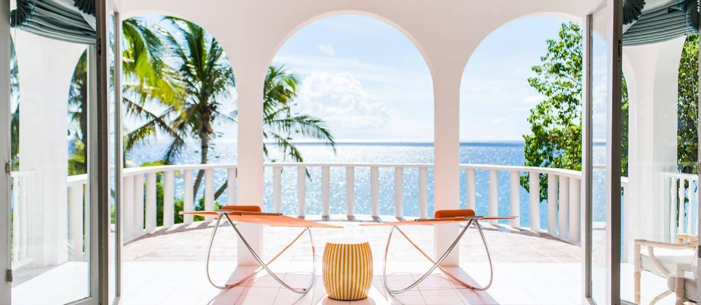 covered terrace at Malliouhana, Anguilla