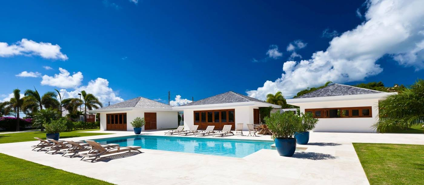 gardens and pool of le bleu, anguilla