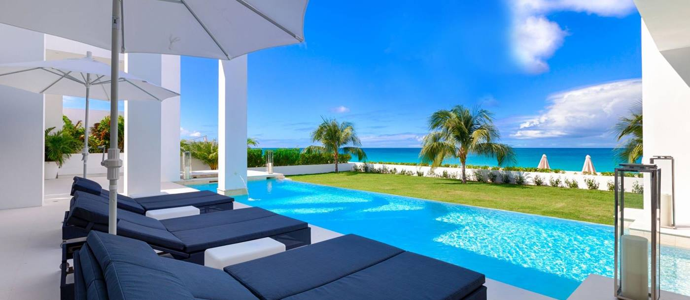 the terrace of the beach house, anguilla