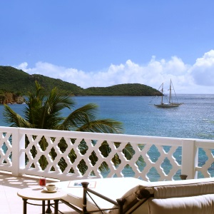 Sea view from Curtain Bluff