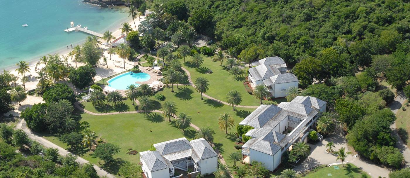 Aerial of Inn at the English Harbour, Antigua