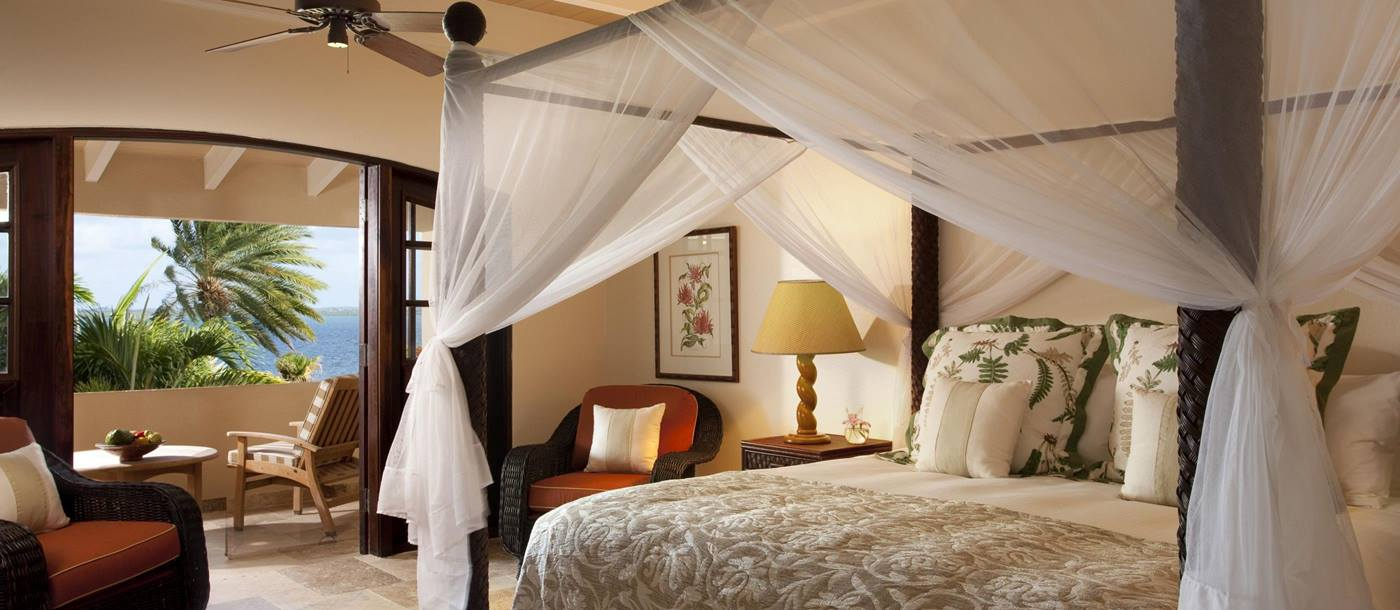 Double bedroom at Banyan Villa, Antigua