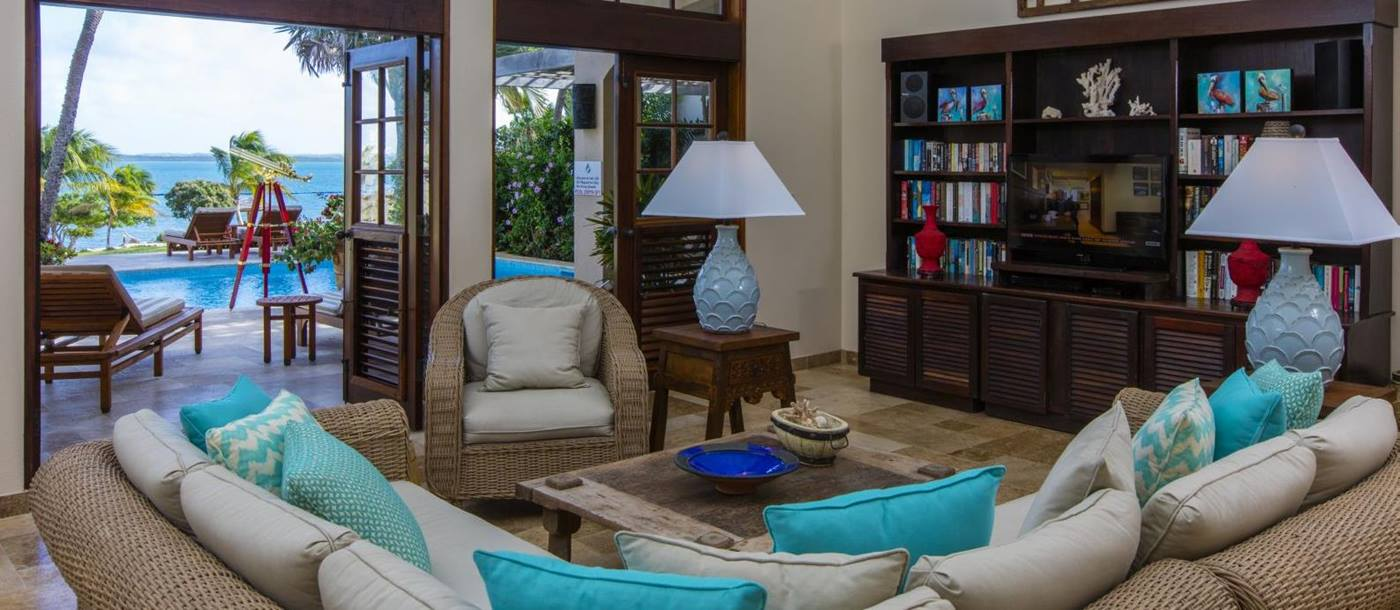 Living area of Banyan Villa, Antigua