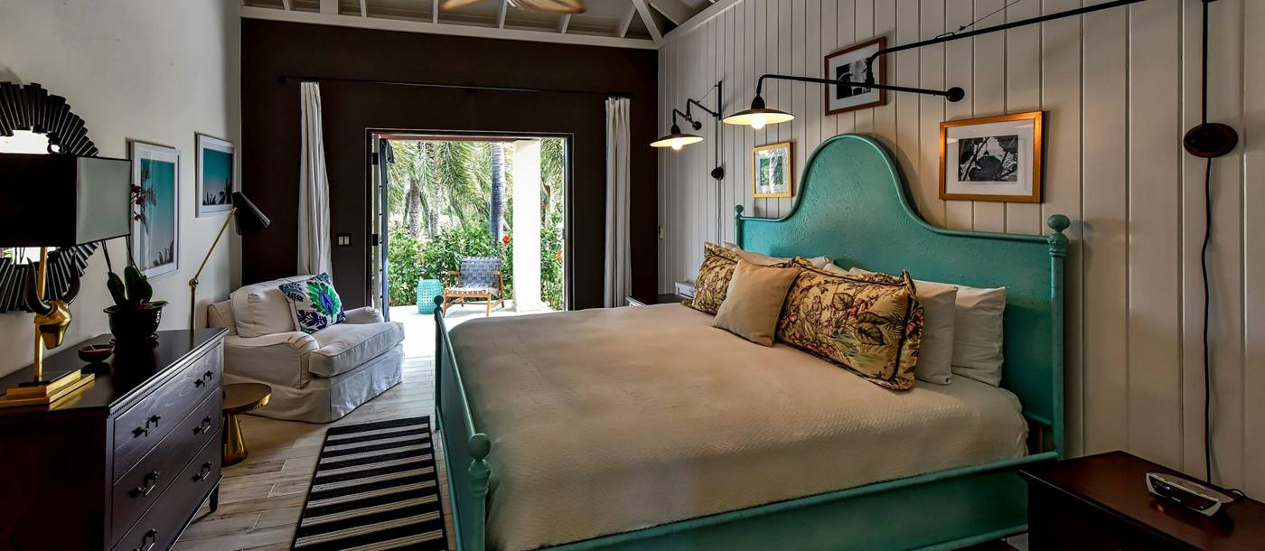 BLue double bedroom at Blue Pelican, Antigua