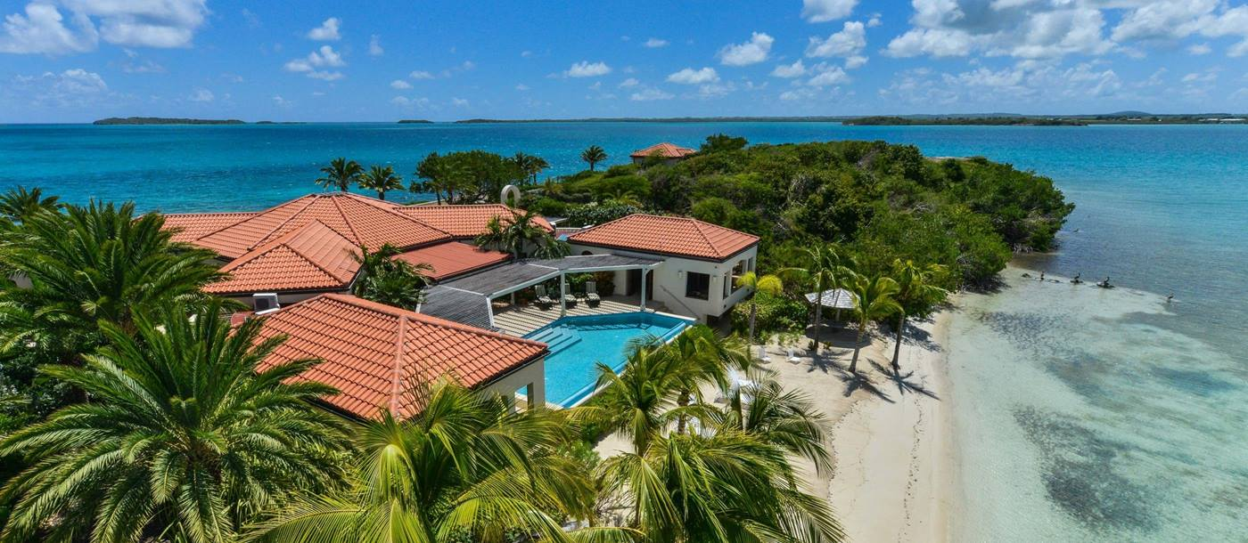 Aerial view over Dondiford Cottage, Antigua