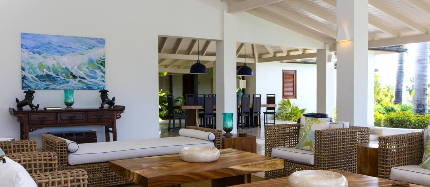 Harbour Heights in Antigua - sitting room