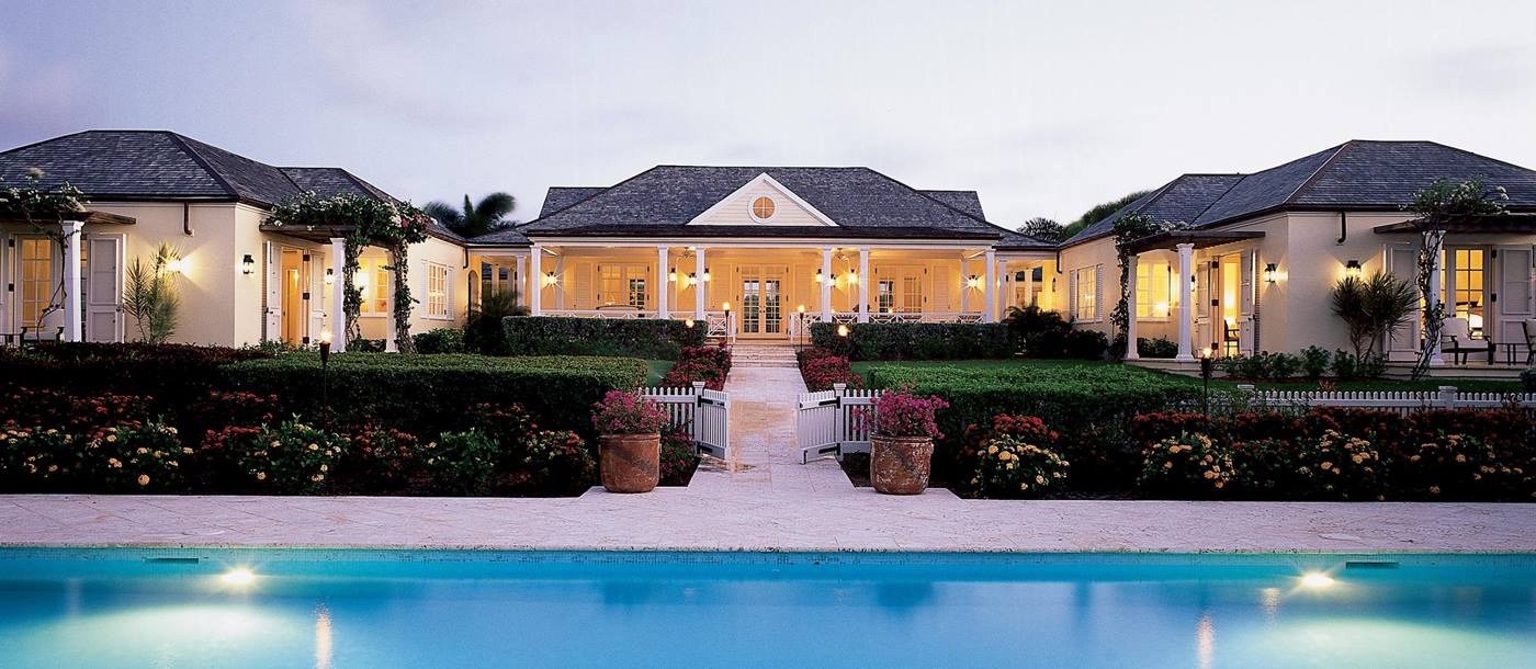 Exteriors and swimming pool of Oleander, Antigua