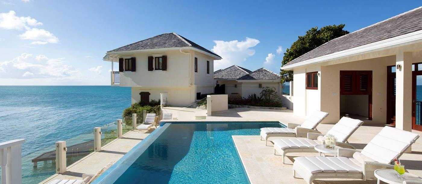 Pool and sea-Rock Cottage - Antigua