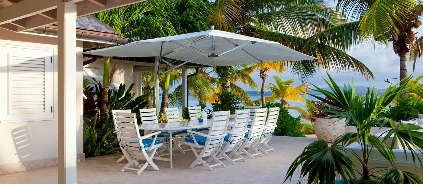 Dining at Sandpiper Beach House, Antigua