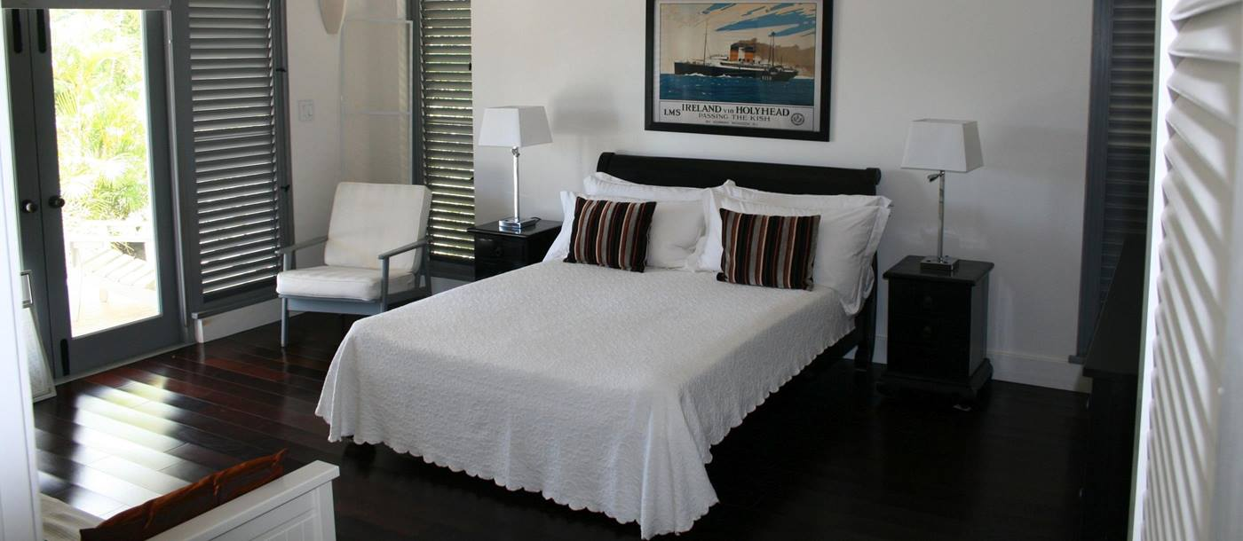 Double bedroom of Hill Club, Antigua