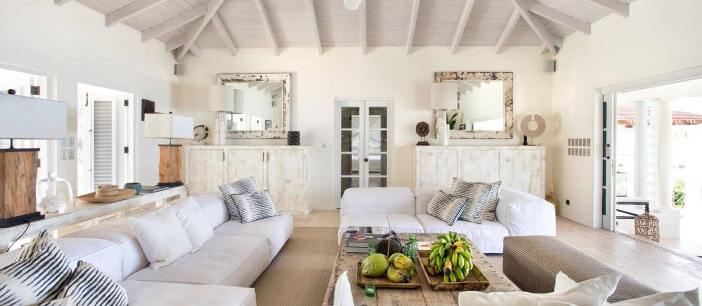 LIving room at Calabash-Jumby Bay in Antigua