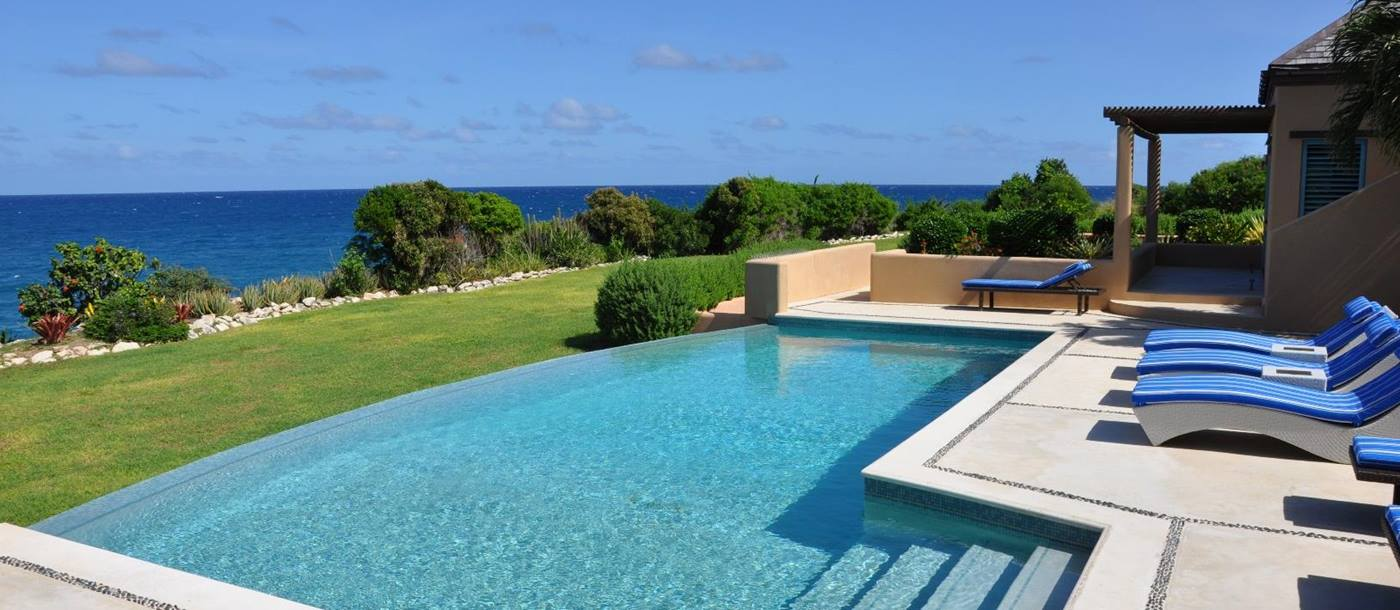 swimming pool of villa long bay, antigua