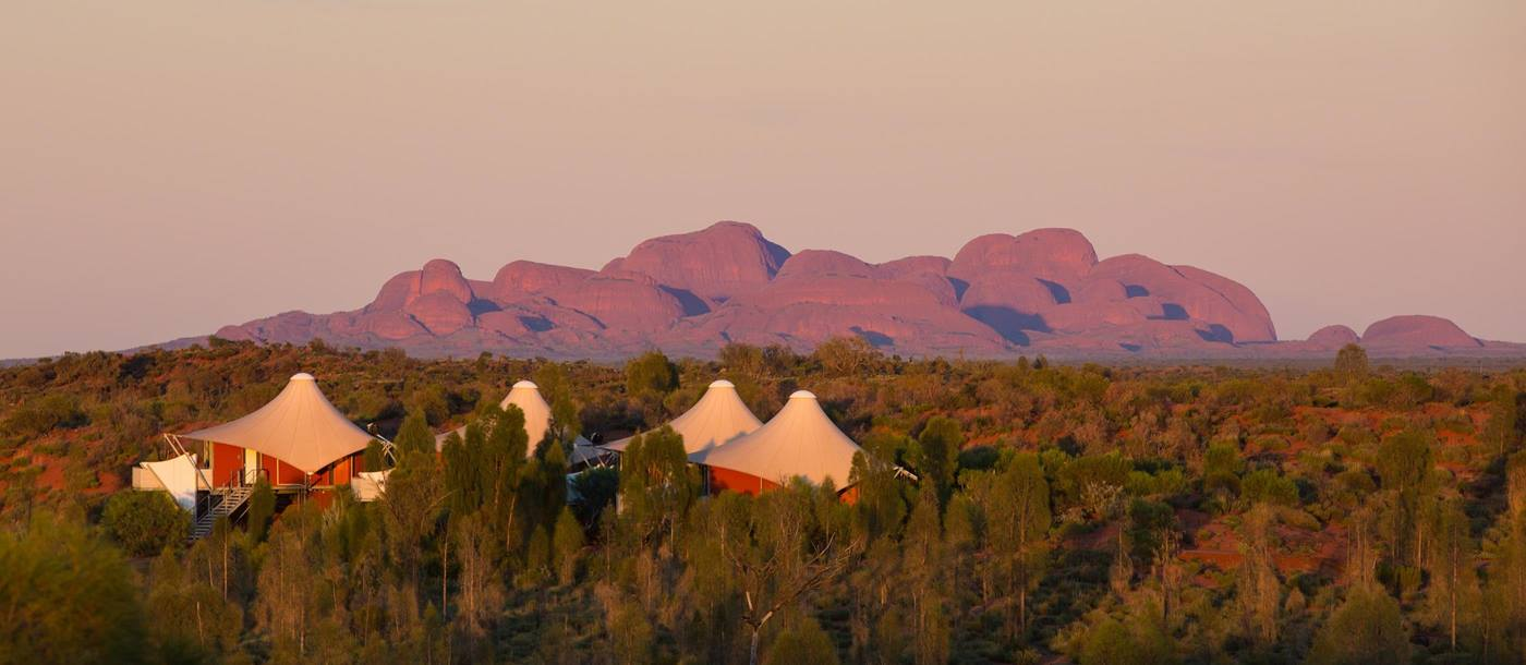 Longitude 131 with Kata Tjuta in the background