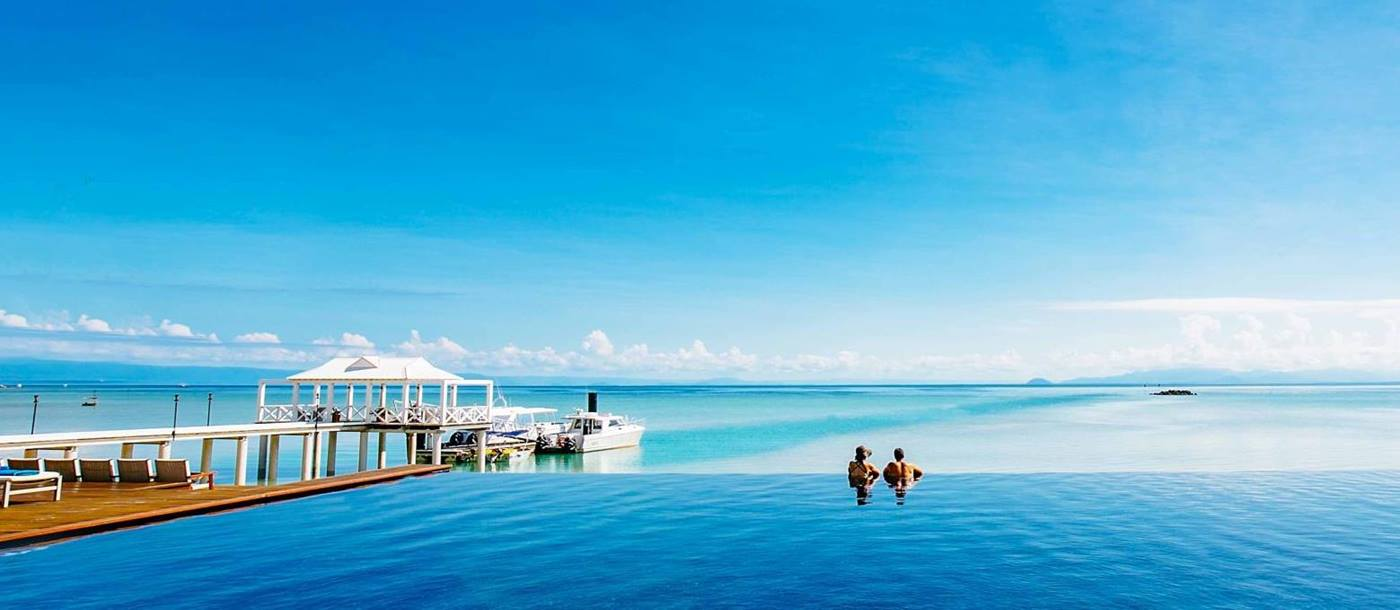 Infinity pool at Orpheus Island in Australia's Great Barrier Reef