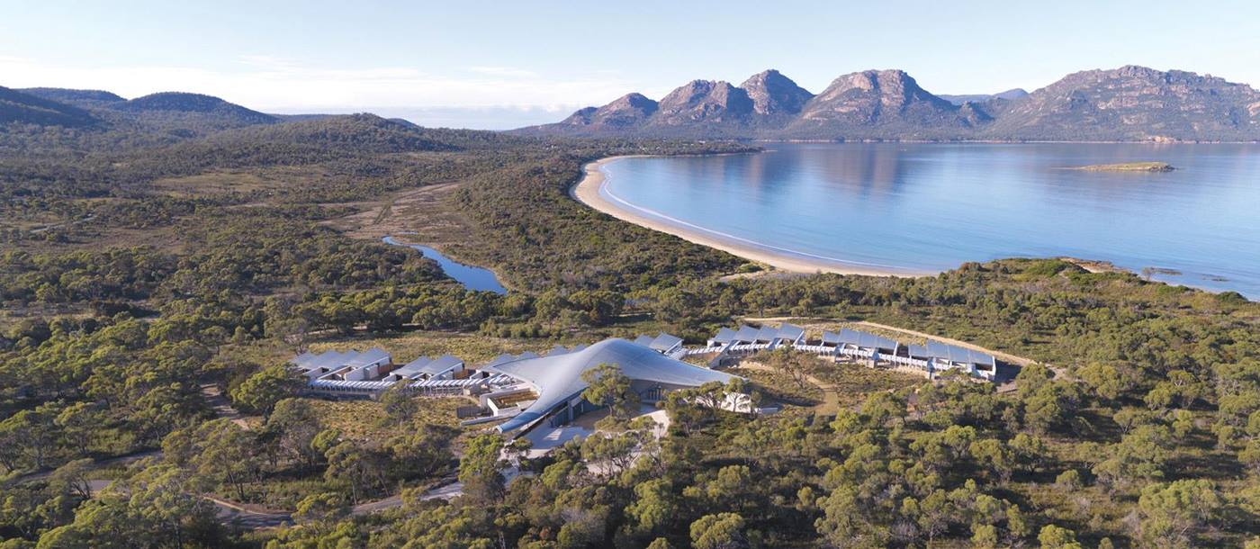 The exterior of Saffire Freycinet