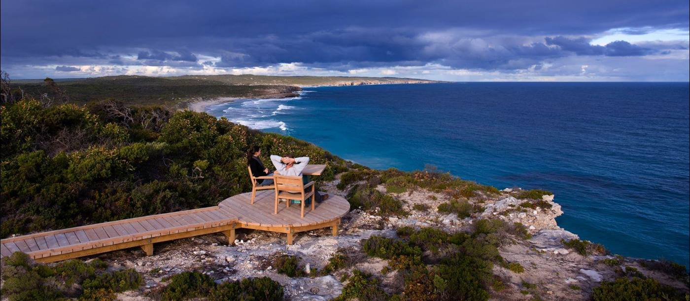 View point at Southern Ocean Lodge in Australia