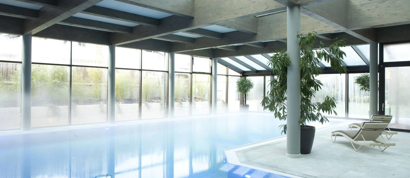 Indoor swimming pool of Parkhotel Igls, Austria