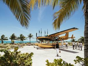 A seaplane at Over Yonder Cay