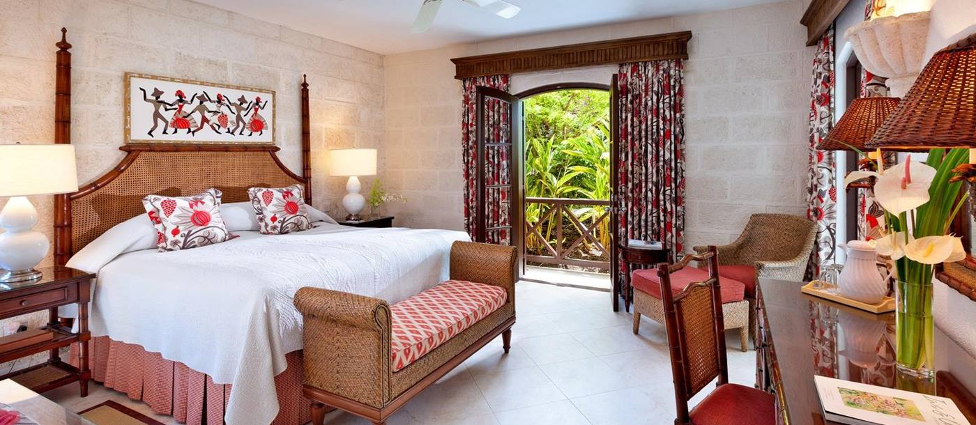 A double bedroom in Sandpiper, Barbados