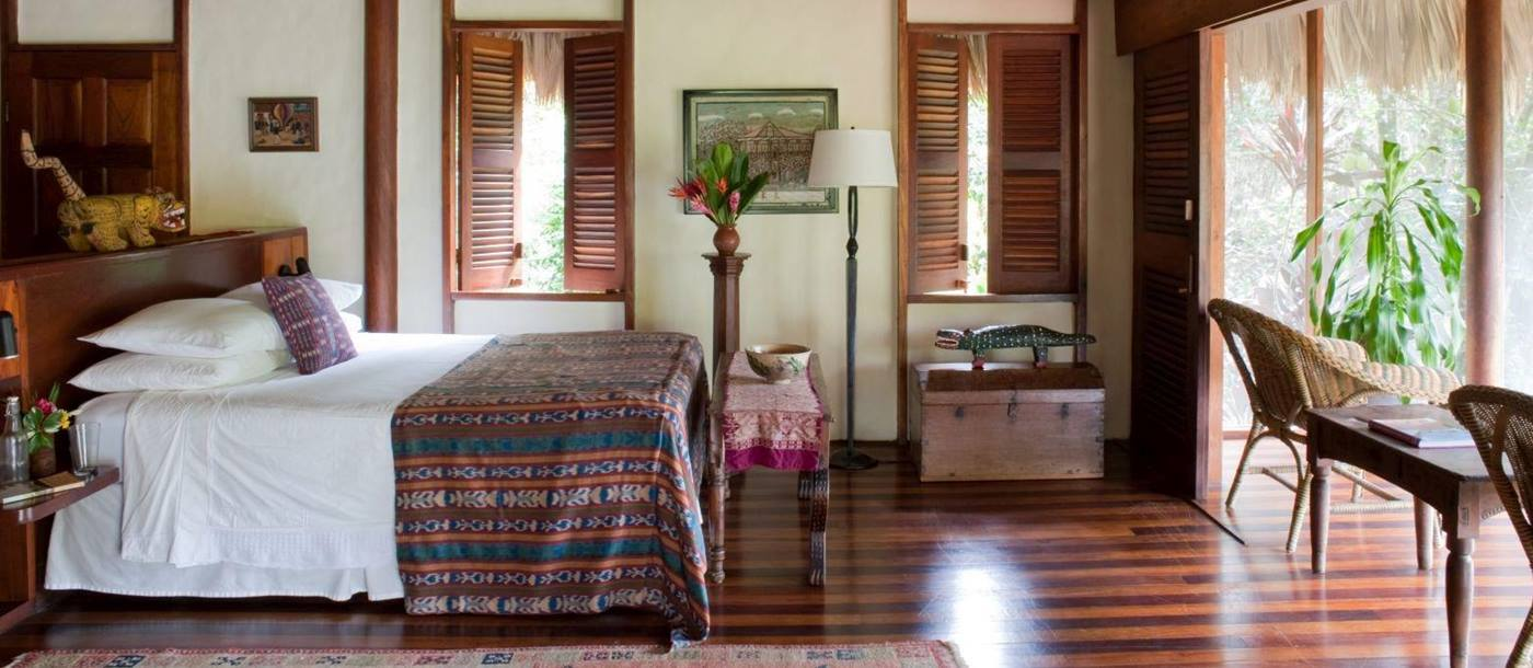 Bedroom at Blancaneaux Lodge in Belize