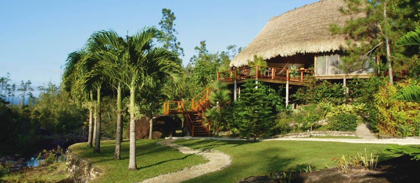 Exterior at Blancaneaux Lodge in Belize