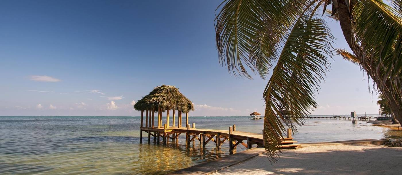 Beach at Victoria House in Belize