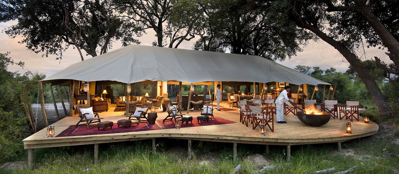 Outdoor living at the Duba Expedition Camp