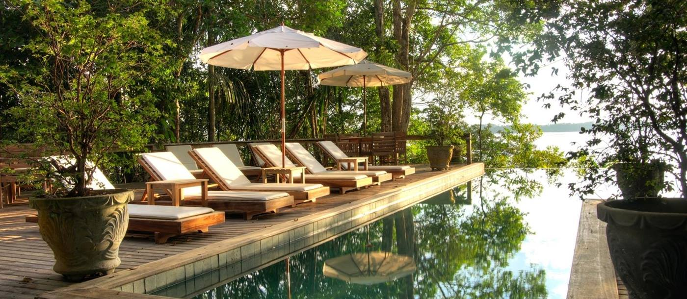 Pool at Anavilhanas Lodge in Brazil