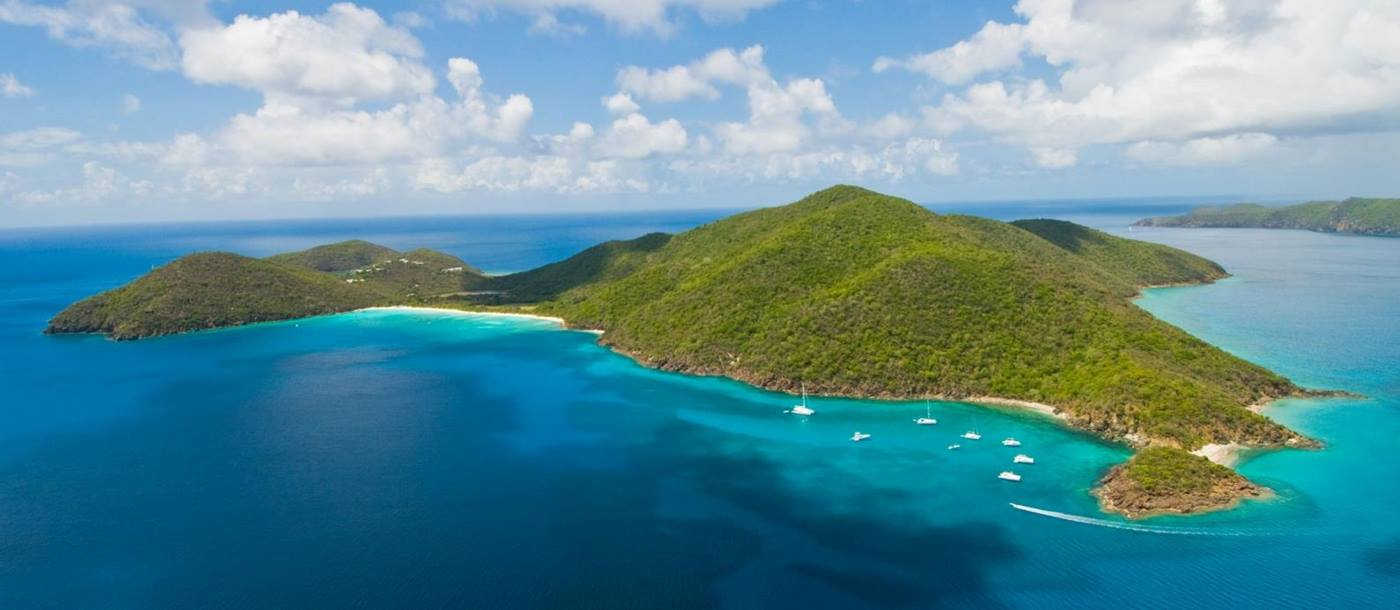 Aerial view of Guana Island