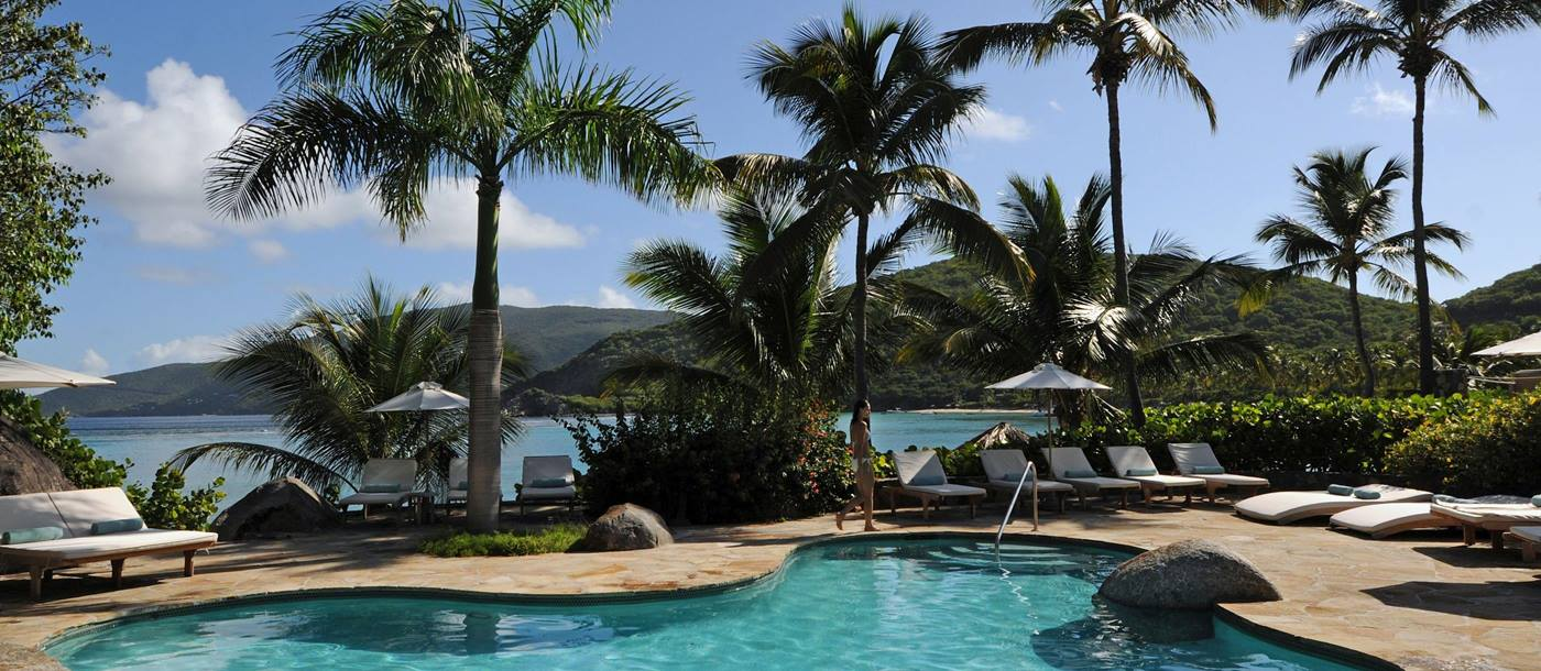 Main pool of Rosewood Little Dix Bay, British Virgin Islands