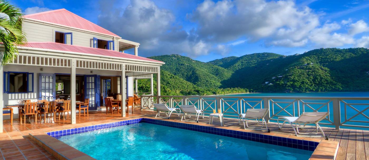 The swimming pool of Outer Banks, British Virgin Islands
