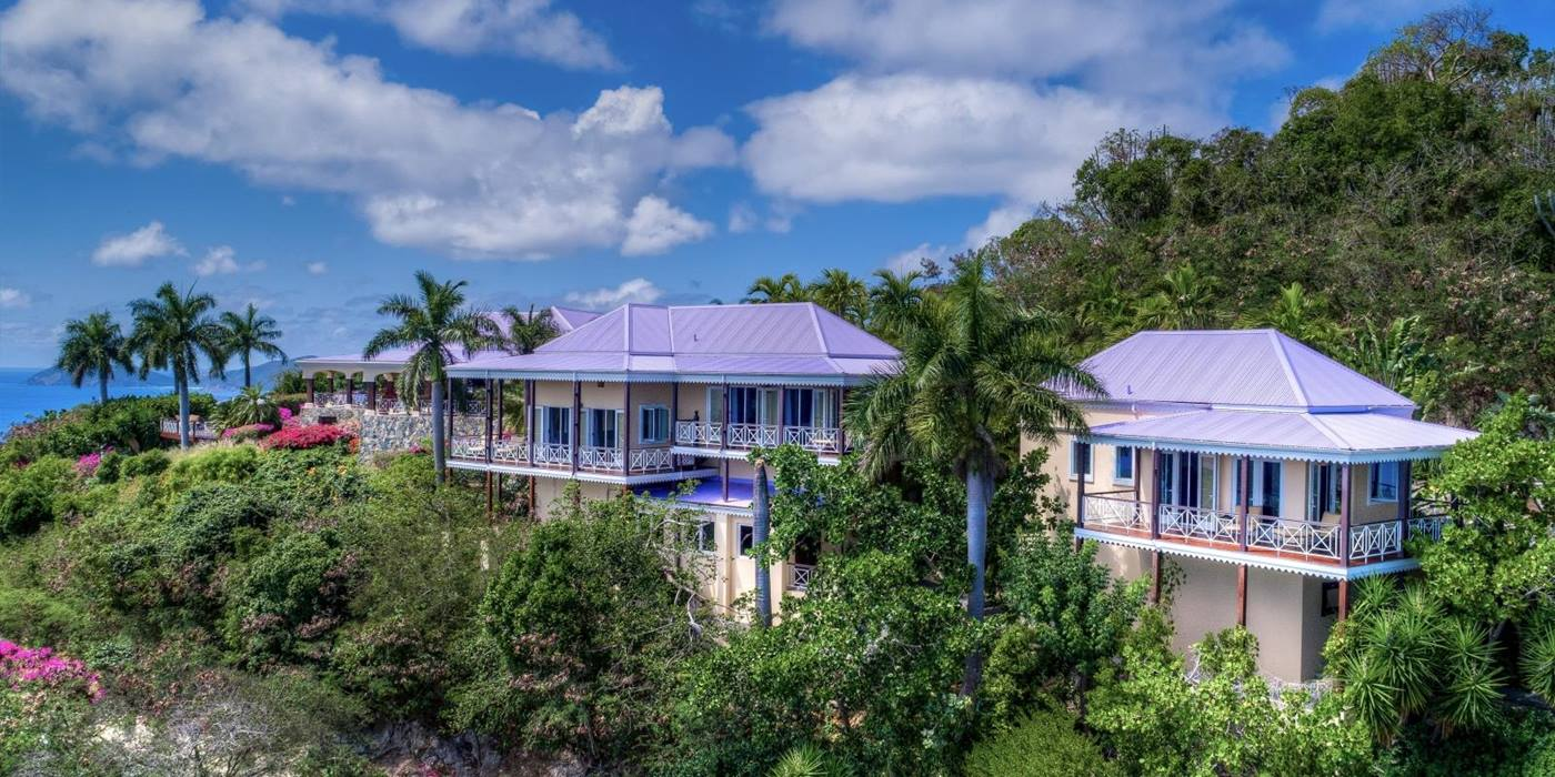 Exterior of St Bernards Hill House, Caribbean luxury villa