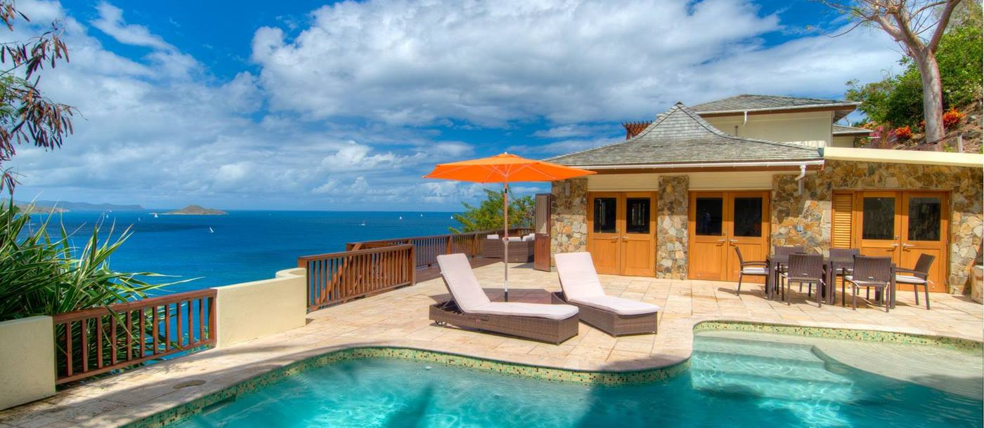 swimming pool of Turtle Bay House, British Virgin Islands