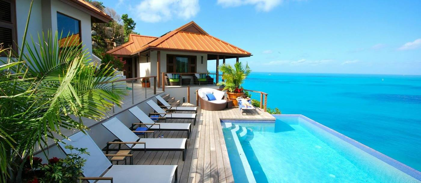 Swimming pool of Villa Aja, British Virgin Islands