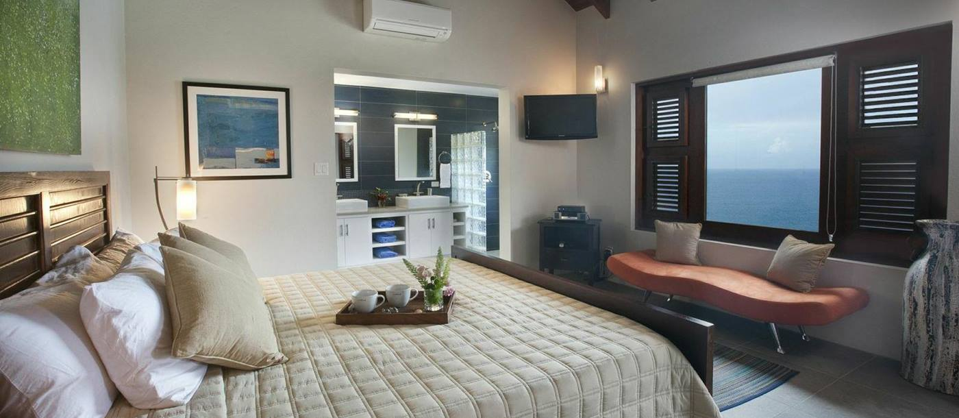 double bedroom in Villa Aja, British Virgin Islands