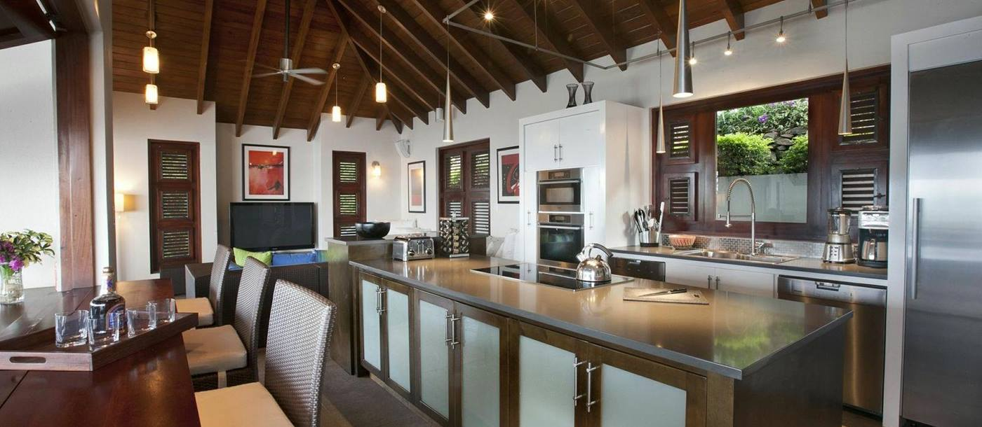kitchen of Villa Aja, British Virgin Islands
