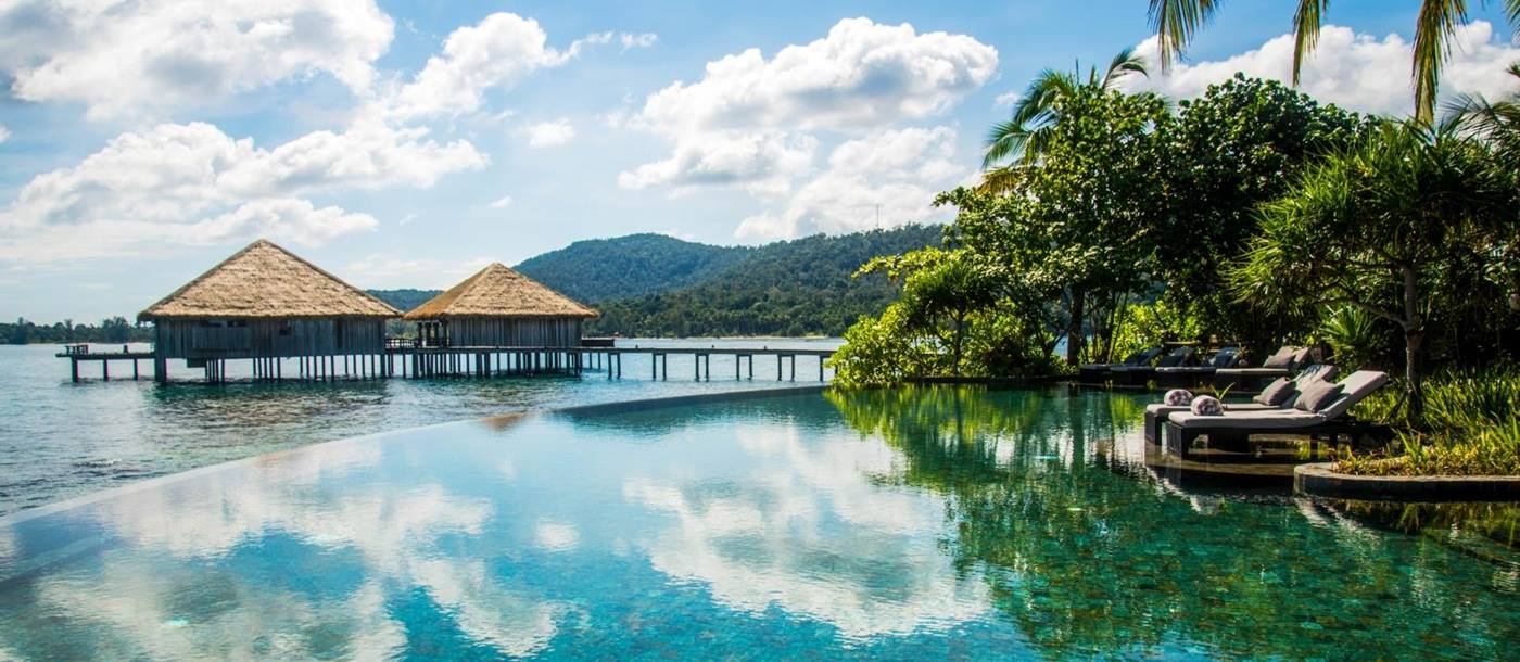 Infinity pool at Song Saa Island in Cambodia