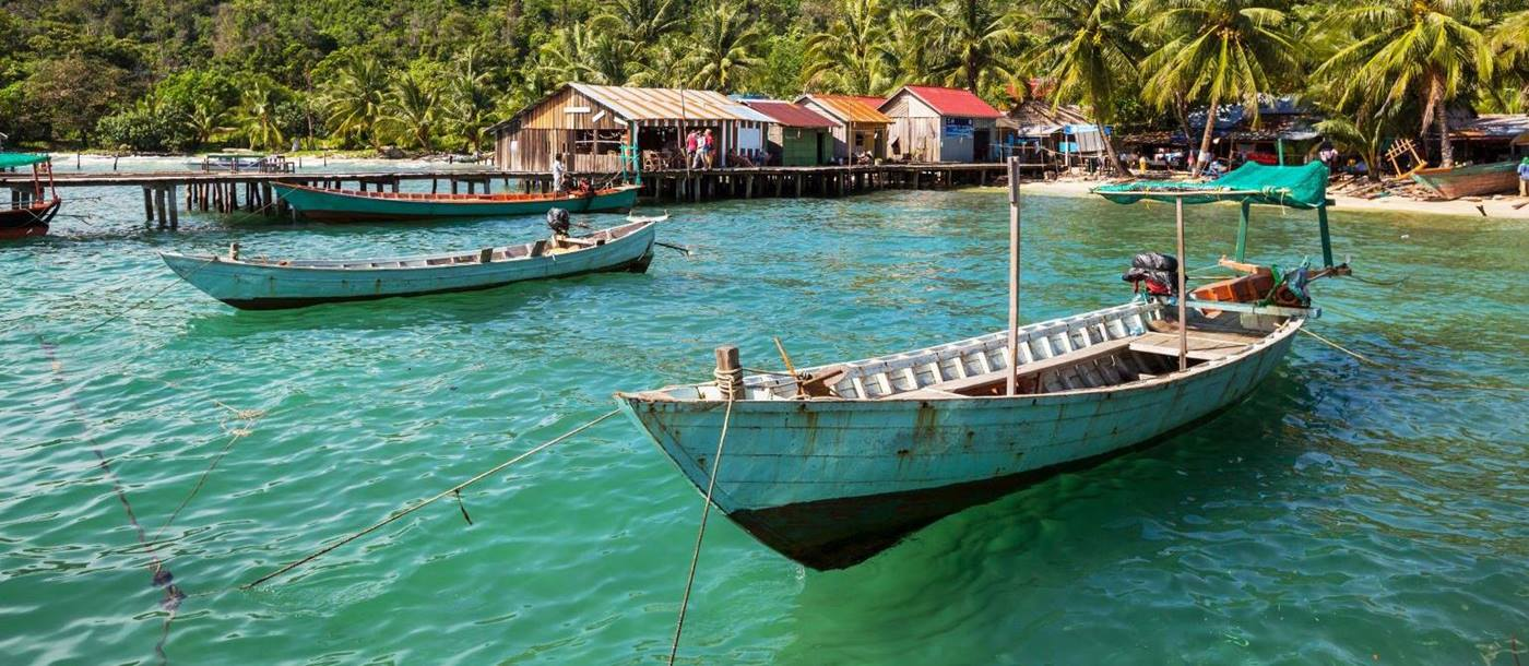 Kep fishing boats, Cambodia
