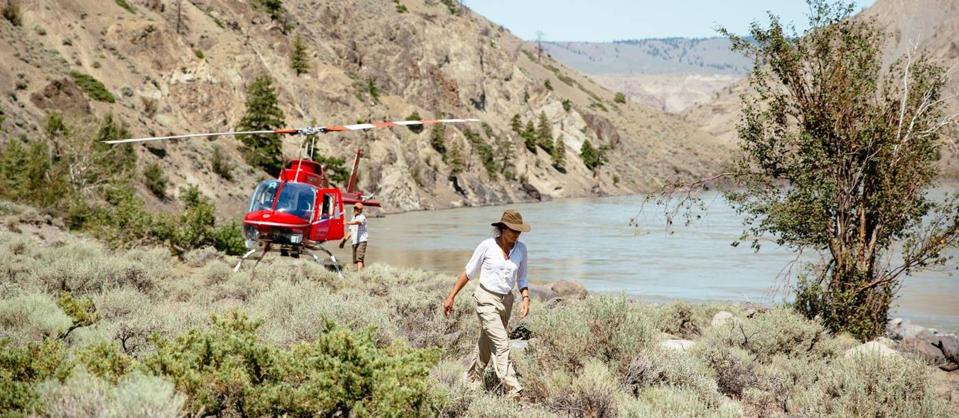 Helicopter safari from Siwash Lake Wilderness Resort, Canada