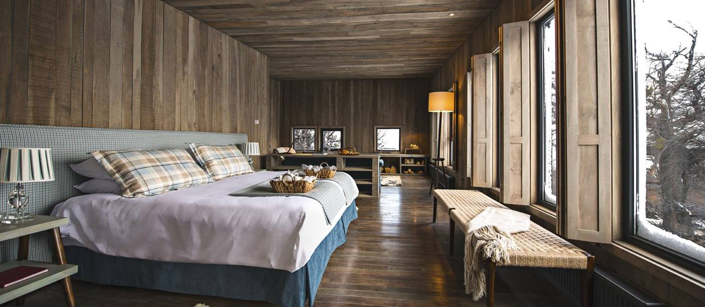 Double bedroom of Awasi Patagonia, Chile