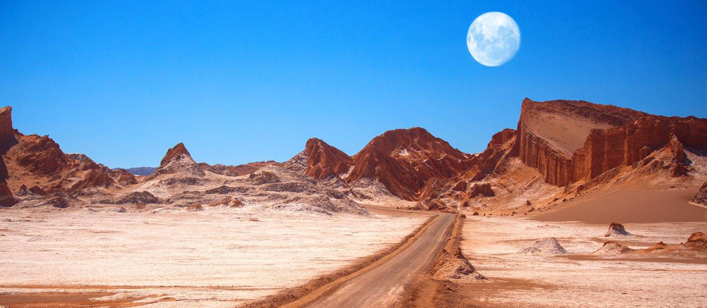 Moon Valley in Atacama Desert in Chile