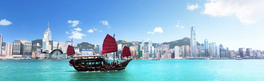 Hong Kong Harbour in China