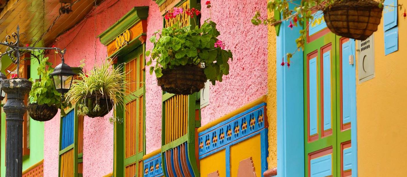 Colourful houses in Cartagena