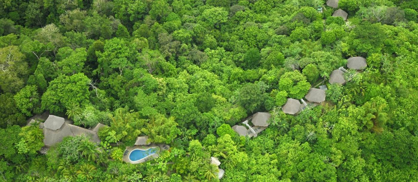 Aerial view at Lapa Rios Eco Lodge in Costa Rica
