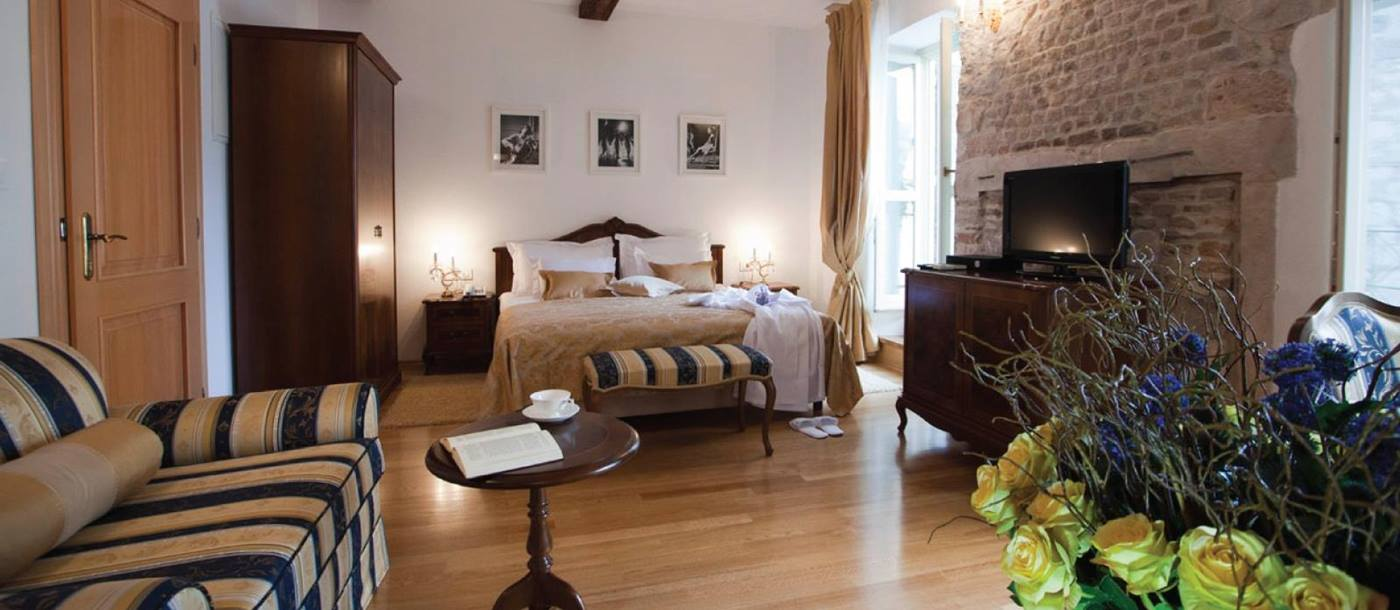 Double bedroom at Judita Palace in Croatia