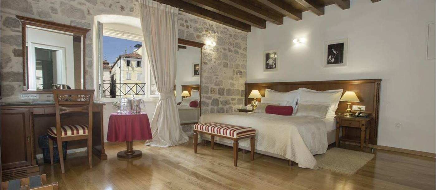 Deluxe double room with view of square at Judita Palace in Croatia