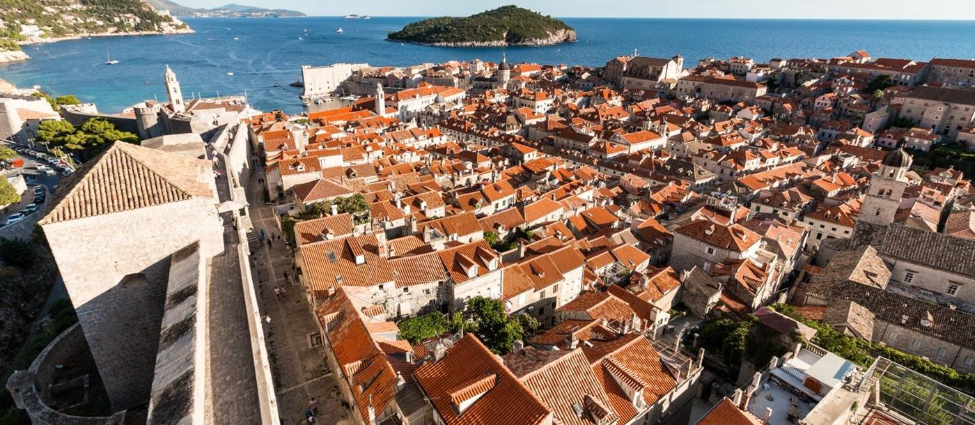 View of Dubrovnik from the city walls