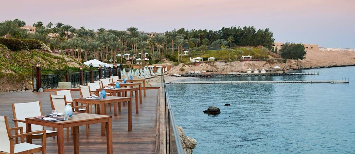 Terrace and sea view at Four Seasons Resort Sharm El Sheikh