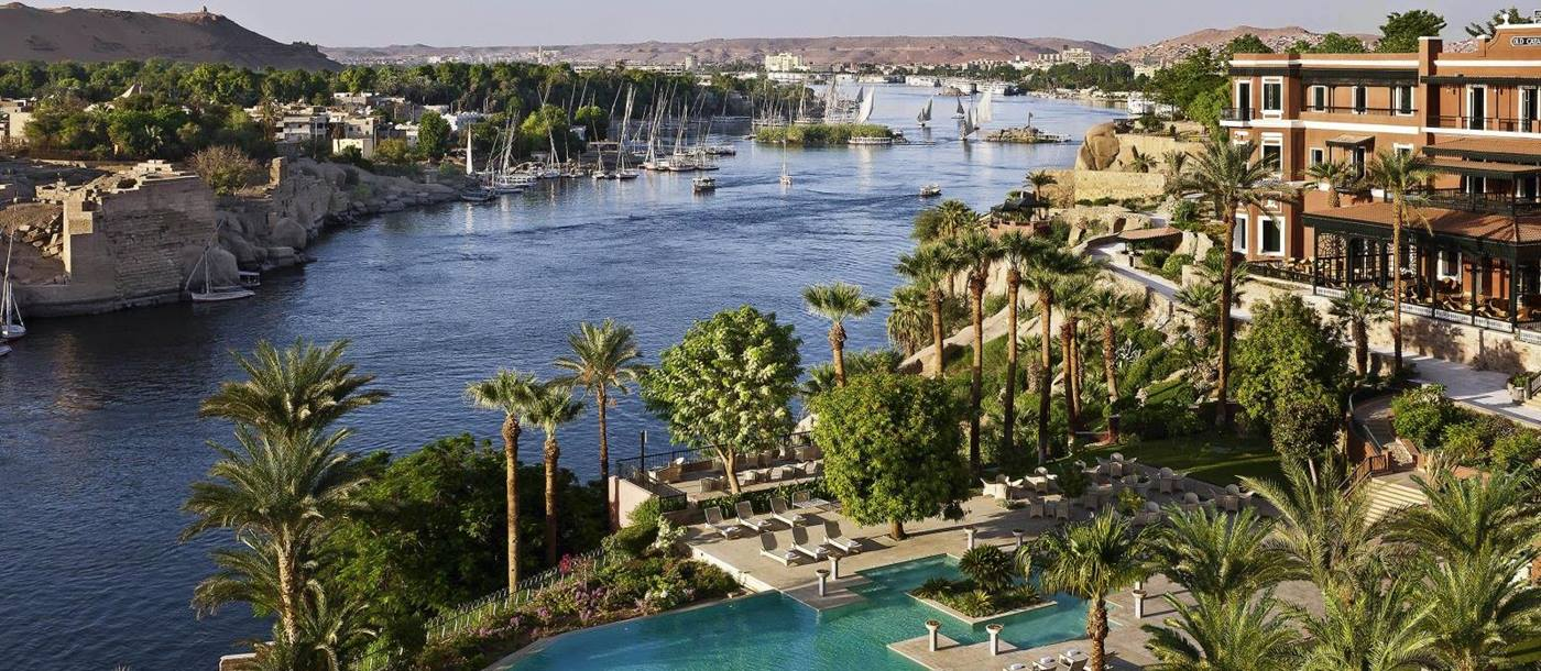 Aerial view of Sofitel Legend Old Cataract Aswan