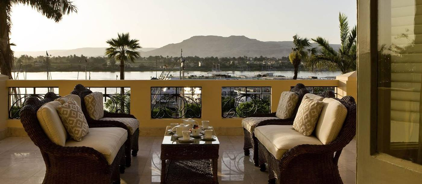 Nile Terrace at the Sofitel Winter Palace Luxor